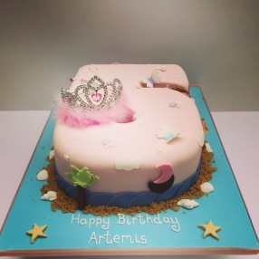 Princess and Pirate Birthday Cake